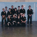 As a blue belt, with my class at the Ford Island Gym.