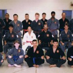 Hawaii Okinawa Kenpo Karate-do Shudokan with Sensei Odo in White, and Sensei Bunch seated to his left. I am seated next to Sensei Bunch.